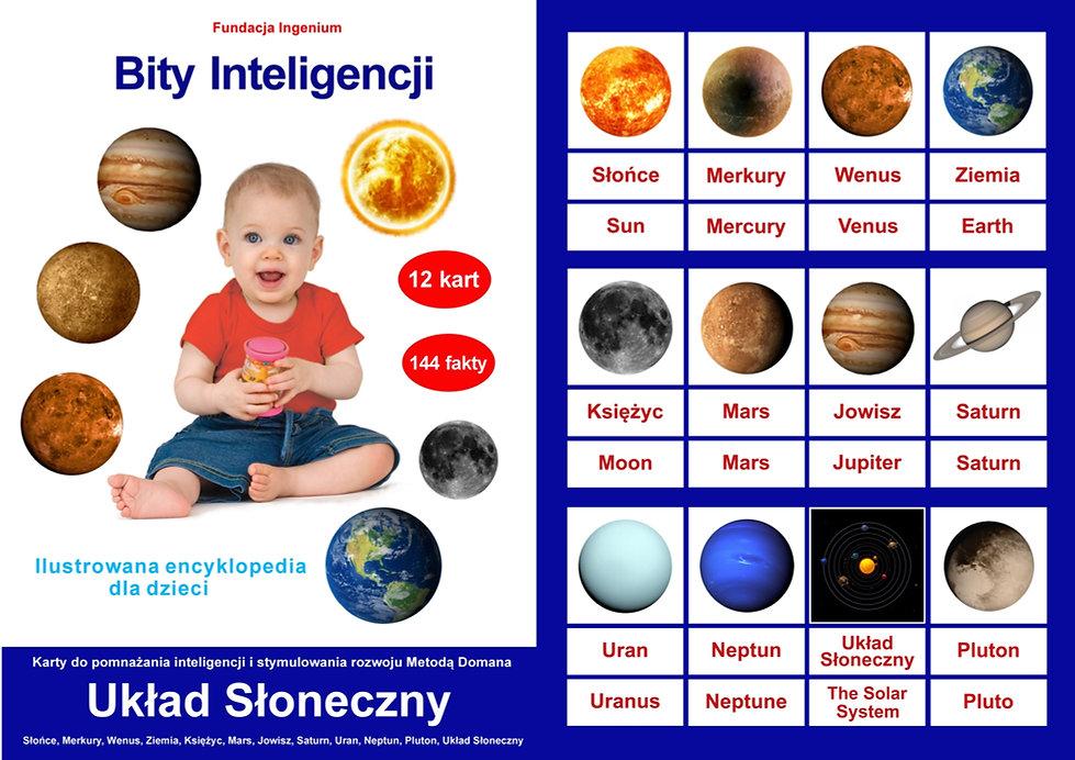 Karty Bity inteligencji Układ Słoneczny