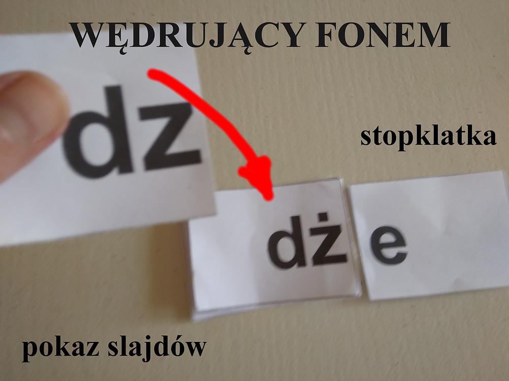 Nauka czytania metodą fonetyczną.