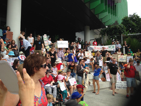 Solidarity vigil with Lady Cilento Children's Hospital staff continues. Let baby Asha stay!