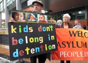 Let them stay: protest vigil