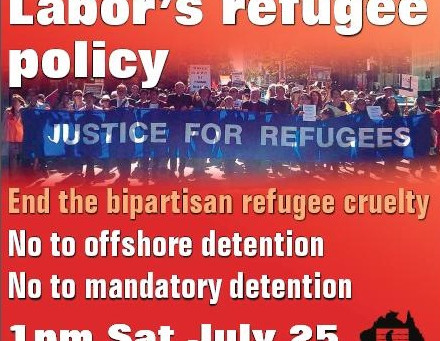 Rally for Change to Labor's refugee policy