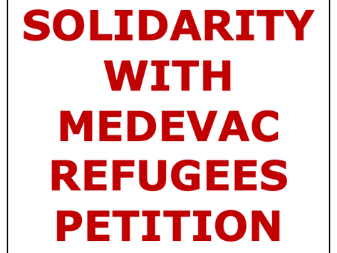Solidarity with Medevac Refugees Petition
