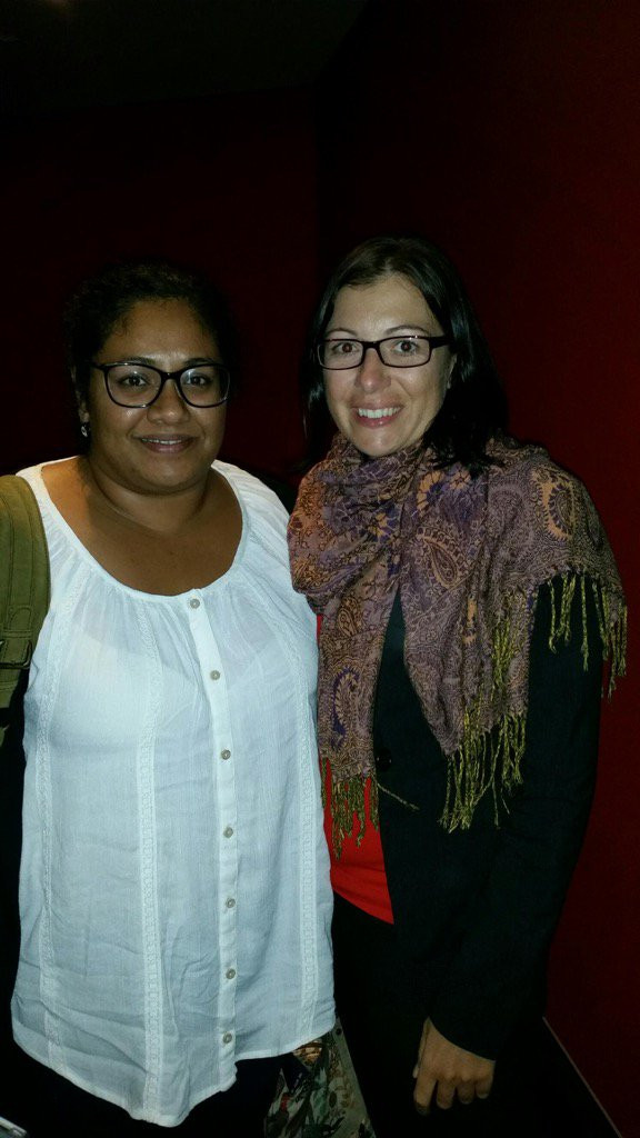 """Must watch. Lets not let this election be a race to the bottom"". Anu & Jane @ Brisbane premiere of #ChasingAsylum"