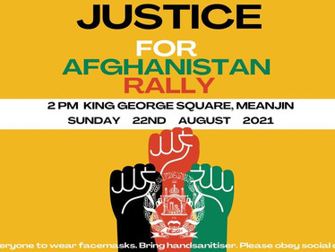 Justice for Afghanistan Rally