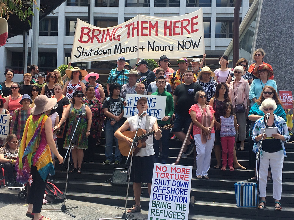 "One Voice Brisbane Choir with their rendition of ""Refugee"""