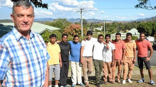 Dr Mark Weller & some of the men from the Bangladeshi Boys campaign