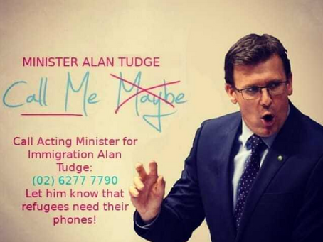 Phones are a Lifeline: #ShameAlanTudge Calling Party