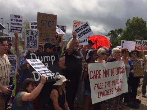 REFUGEE RIGHTS PROTEST AT PINKENBA DETENTION CENTRE