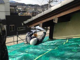 屋根軒天塗装