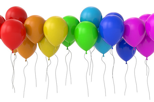 50 de baloane colorate cu heliu