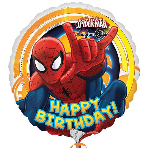 Baloane folie cu heliu Spiderman Happy Birthday 45cm