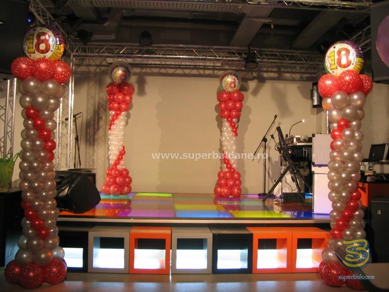 Baloane cu heliu cifre majorat, baloane cu heliu, arcada baloane, baloane 18 ani