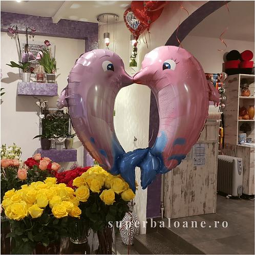 Balon folie Delfini sarutandu-se