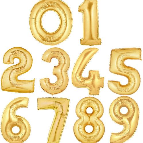 Baloane cu heliu cifre aurii de 86cm