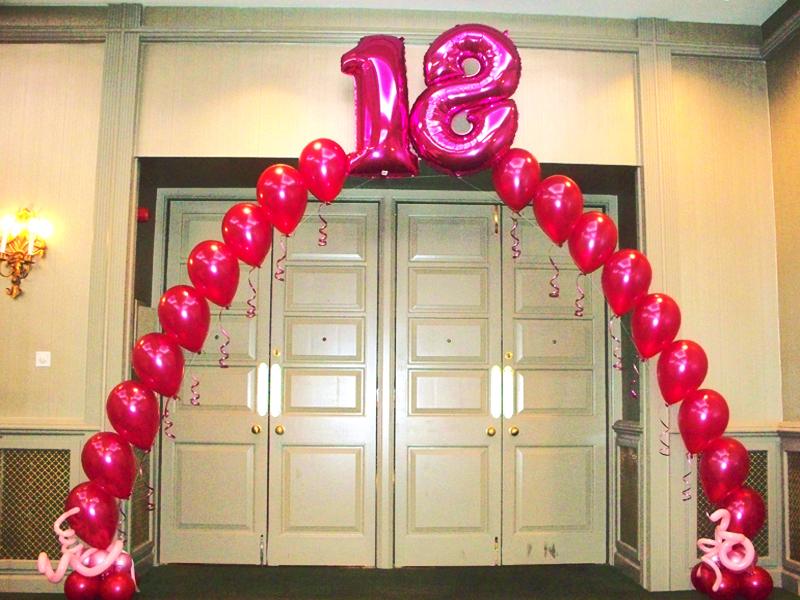 Adaugati baloane cu heliu folie 18 decorului pentru petrecerea de majorat. Livrare oriunde in Bucuresti si Ilfov.