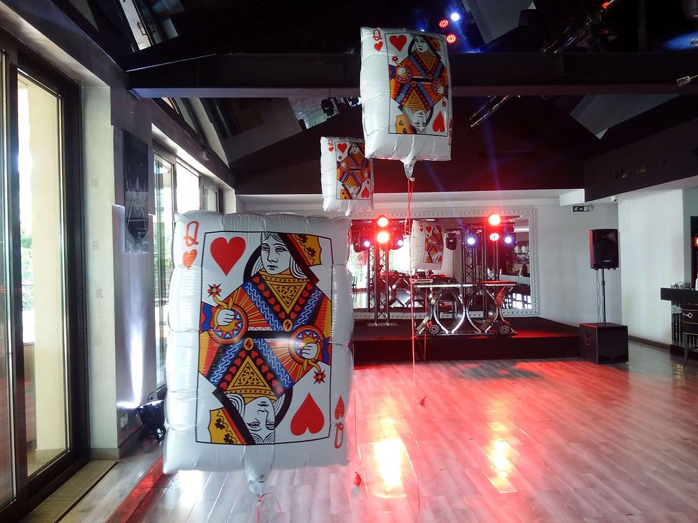 Baloane folie Casino cu heliu la petrecere tematica Aqua Herastrau Bucuresti