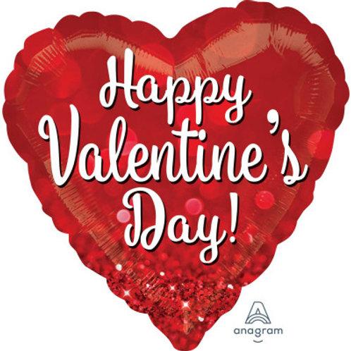 Balon inima cu heliu Happy Valentine's Day