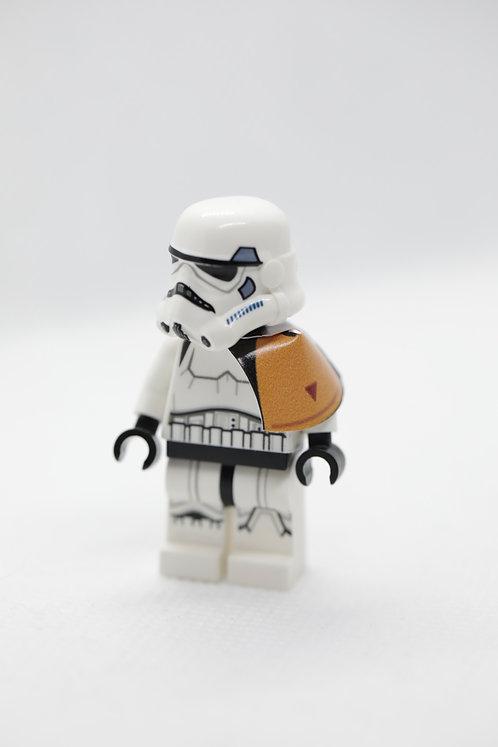 Imperial shoulder cape - orange
