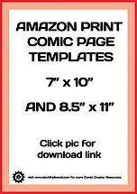 Amazon Print Comic Templates