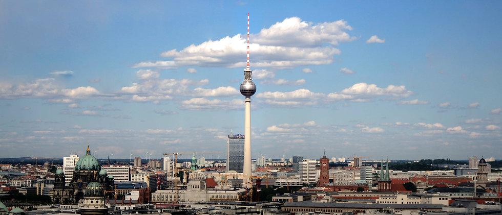 Berlin Alexanderplatz skyline view