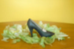 Lettuce leaves,Elegant shoe,Glamorou shoe,TEA FOR TWO,Tabletop photography