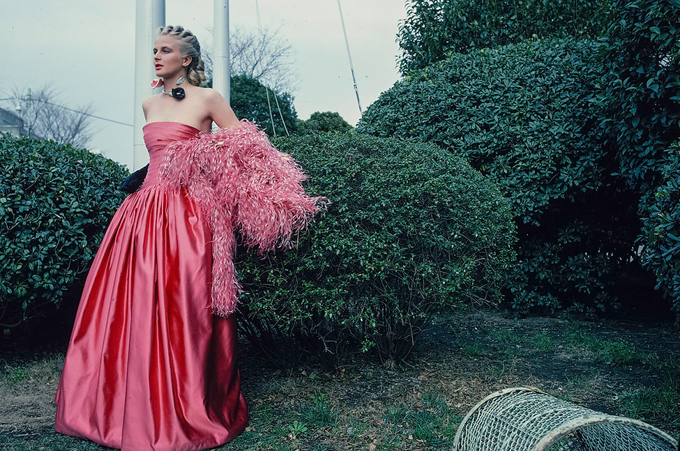 19810317_Ryūkō Tsūshin_Shape_Sirkku_Pink Hanae Mori dress