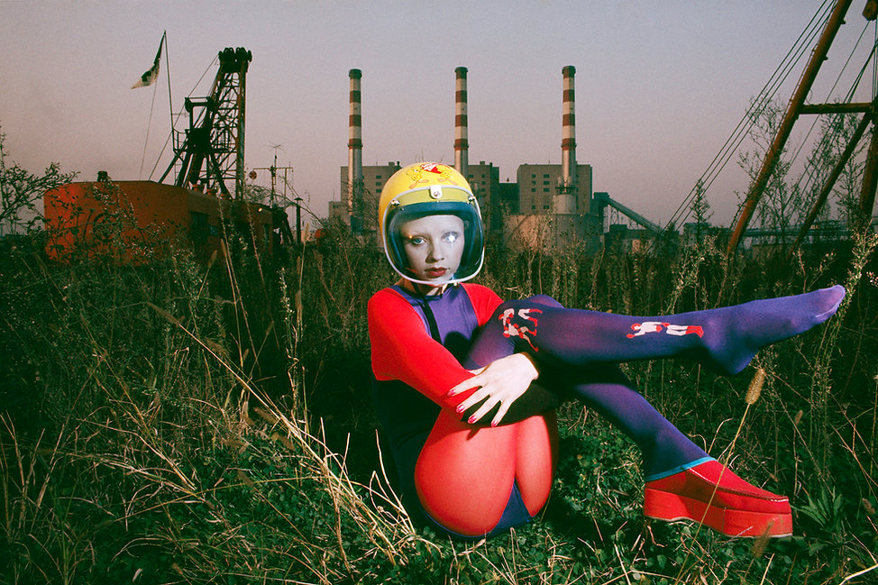 Ooi Power Station, Yellow Helmet, Bodysuits,3 chimneys