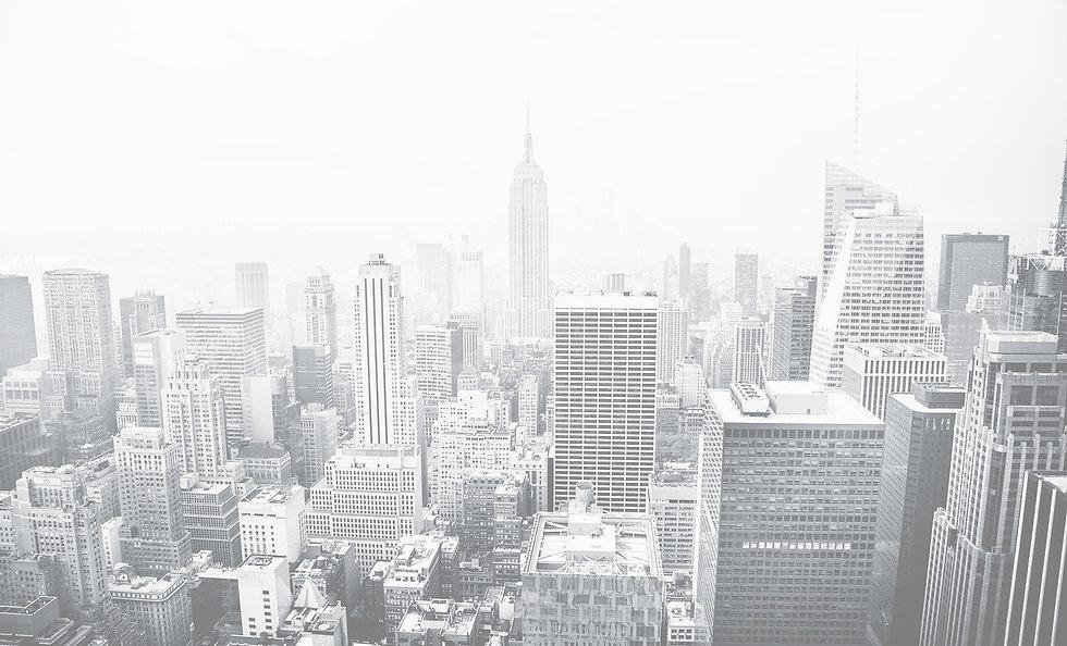New York City aerial view, very light