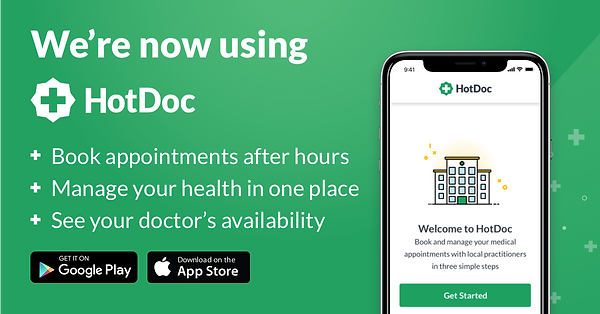 We are using HotDoc. Book your appointments today
