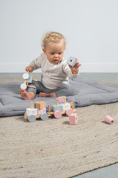 Speelgoedtrein white/pink