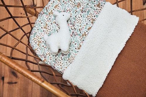 Deken teddy 100x150cm Bliss knit caramel