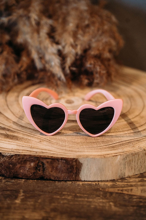 Zonnebril Heart Pink