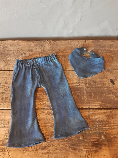 FLARED LEG- Jeans blauw