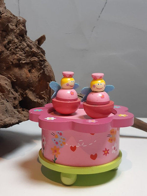 "Muziekdoosje ""Prinses rond roze"""