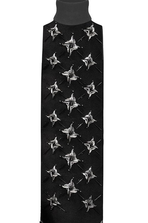 METALLIC COLLAR . Embroideried collar