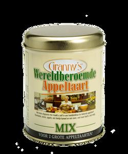 Granny's Oma Wereldberoemde Appeltaartmix blik recept ouderwetse appeltaart
