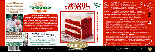 red velvet cakemix moist fluffy Granny's