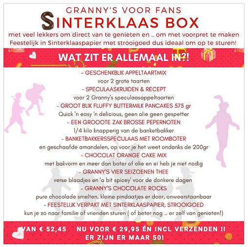 Granny's Sinterklaas box korting gratis