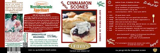 Granny's cinnascones mix voor engelse sc