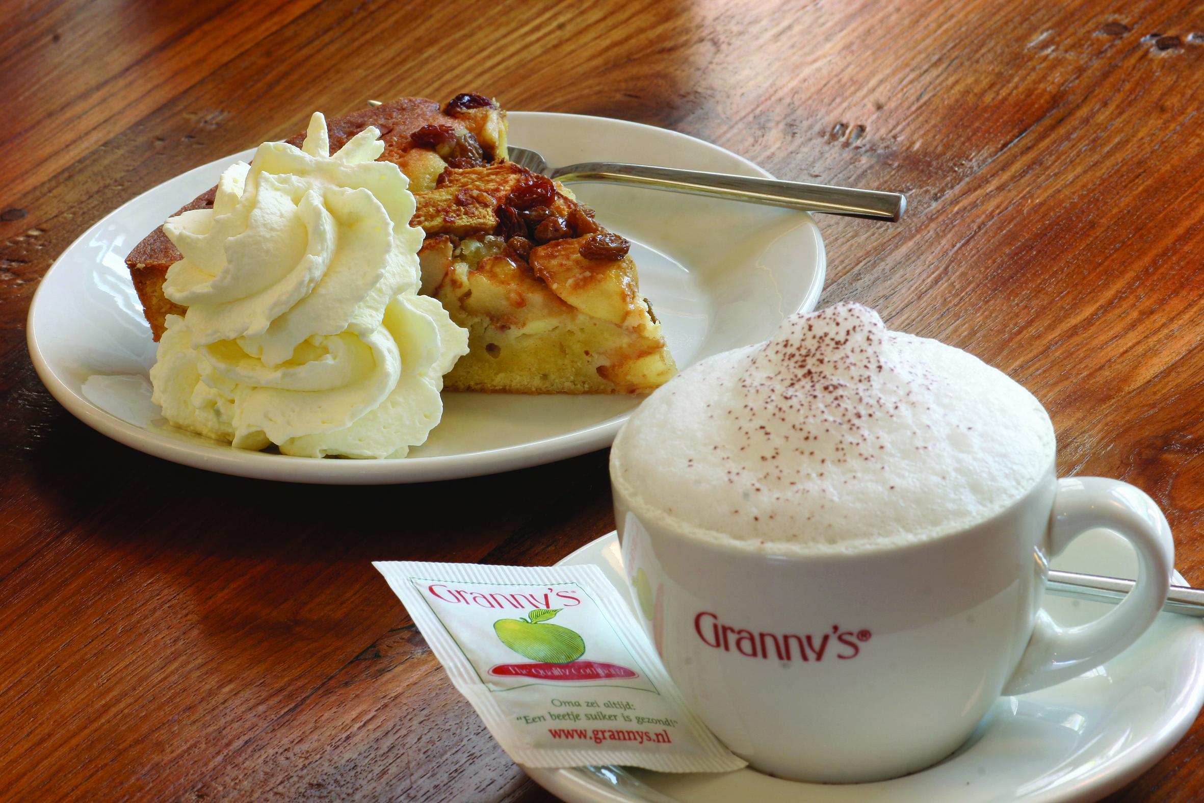 Granny's Wereldberoemde Appeltaart cappuccino bakrecept cakemix taartrecept