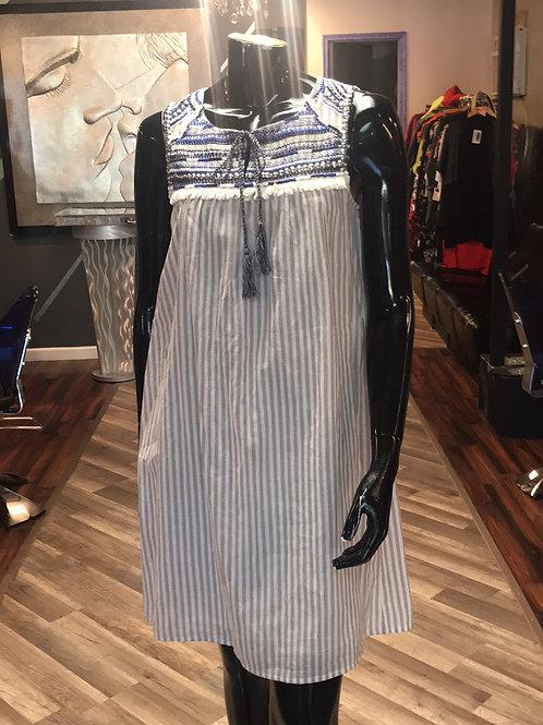 Stripped Embellished Dress