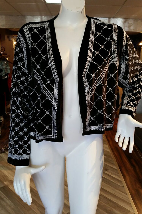 Yuradiche Curve Velour Beaded Jacket