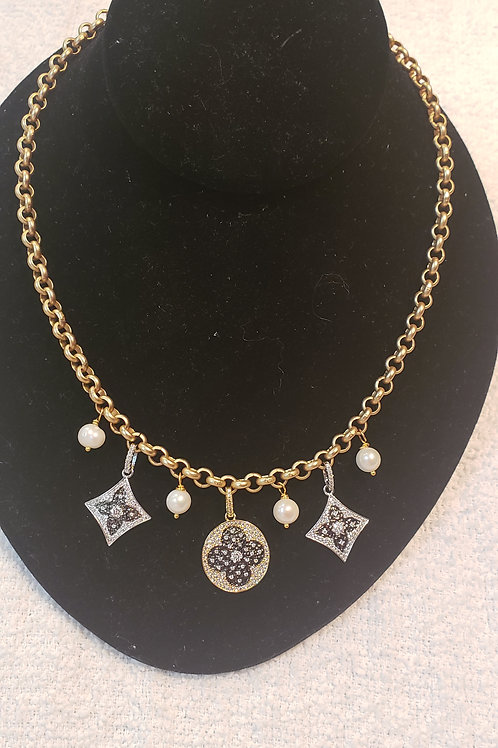 LV charm necklace
