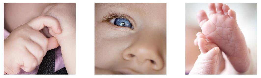 Details von verschiedenen Babys als Beispiel
