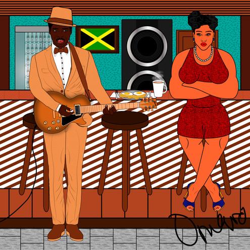 Jamaican calypsonian serenades a Bajan w