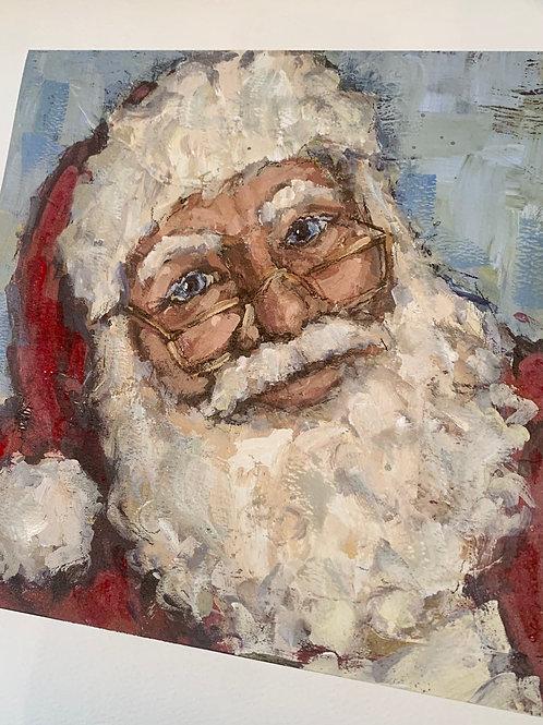SMALL Santa print