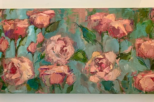 Roses on Green