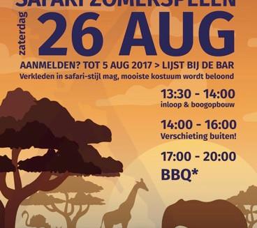 Safari Zomerspelen; schrijf je nu in!