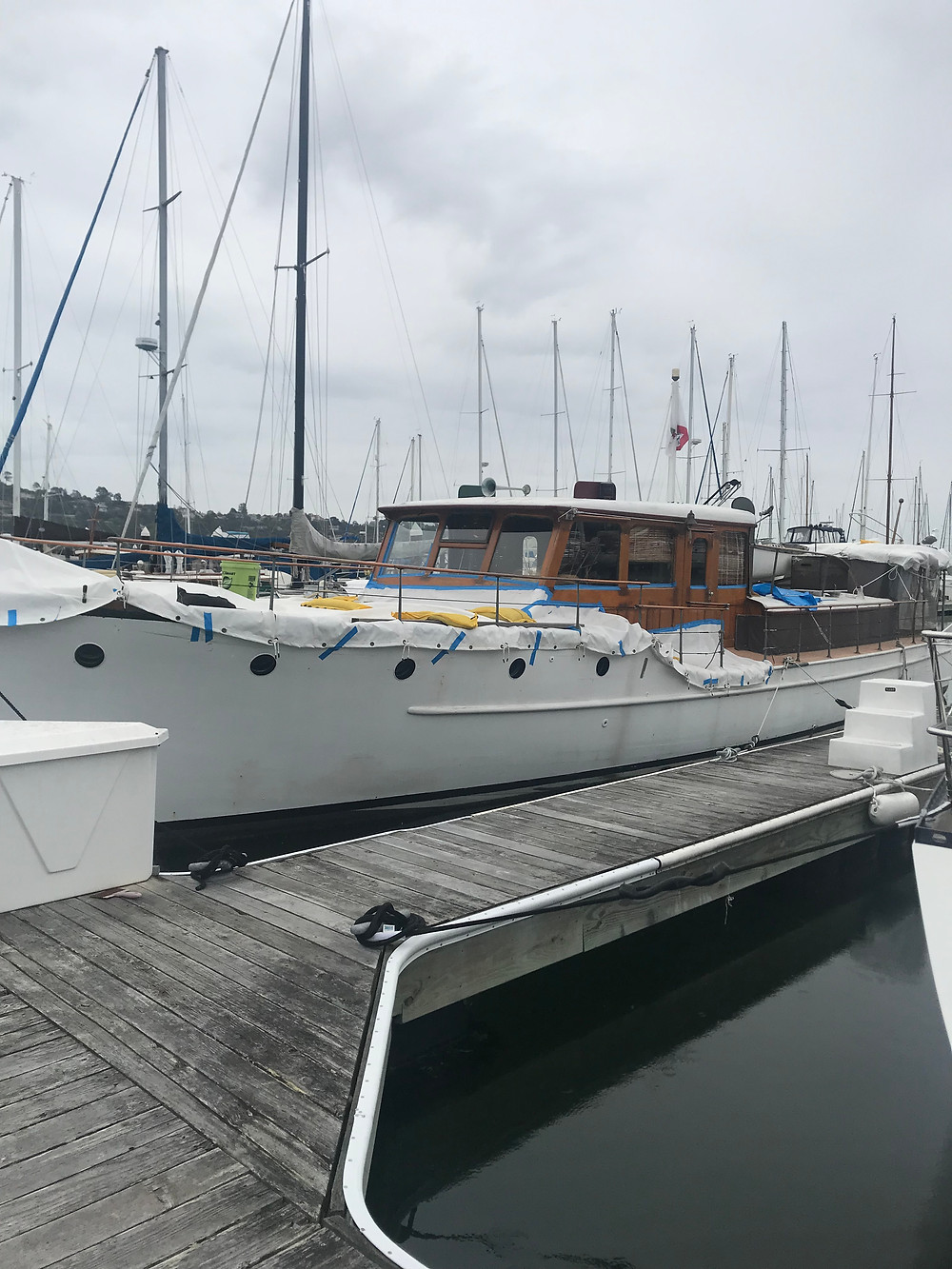 wooden boat tarp; custom pvc motor yacht tarp