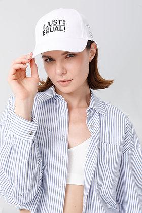 Just Equal! Unisex Beyaz Şapka